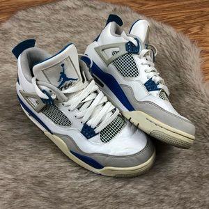 Nike Air Jordan 4 Retro 2012 White Blue Size 9.5